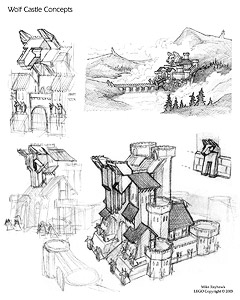 Wolf Castle Sketches